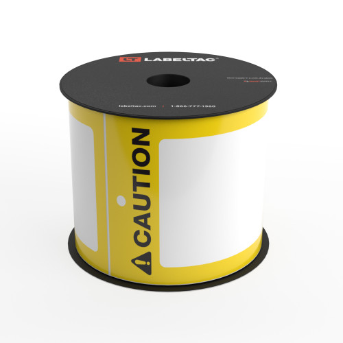 LabelTac®  Caution Tag - Safety Yellow - Printable Tag Roll