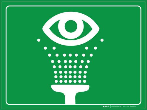 Emergency Eye Wash - Floor Marking Sign