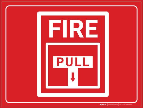 Fire Alarm Pull Station - Floor Marking Sign