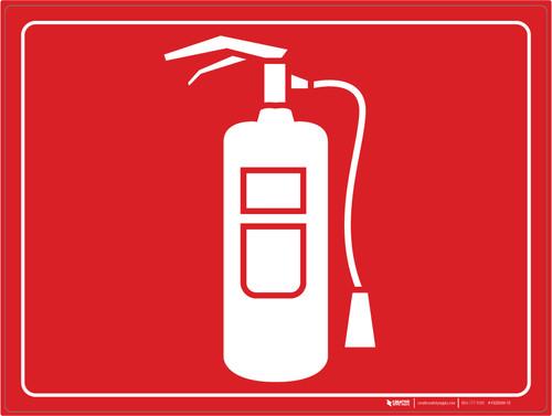 Fire Extinguisher - Floor Marking Sign