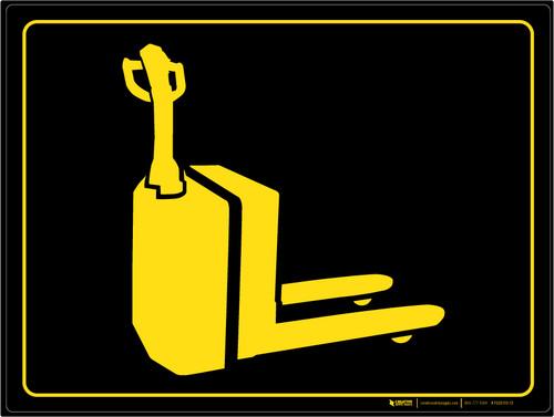 Electric Pallet Jack Parking - Floor Marking Sign