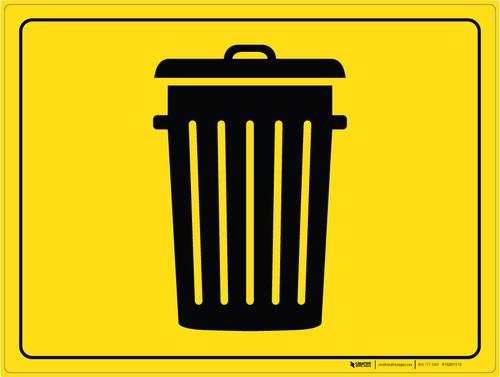Trash Bin - Floor Marking Sign