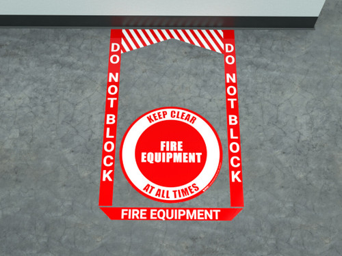 Fire Equipment - Pre Made Floor Sign Bundle