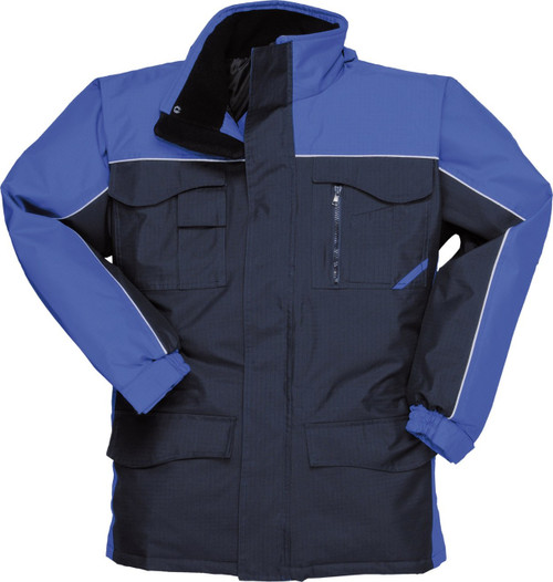 Portwest S562 Ripstop Parka - Navy Blue/Royal Blue