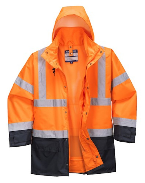 Portwest S768 5in1 HiVis Executive Jacket - Orange / Navy