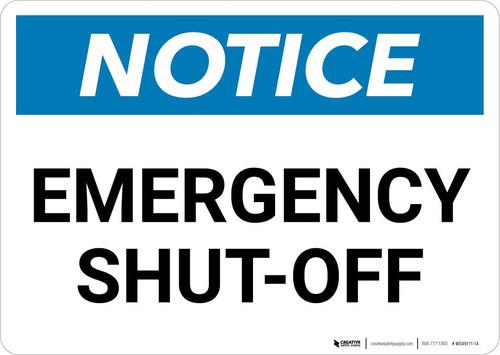 Notice: Emergency Shut-off Landscape