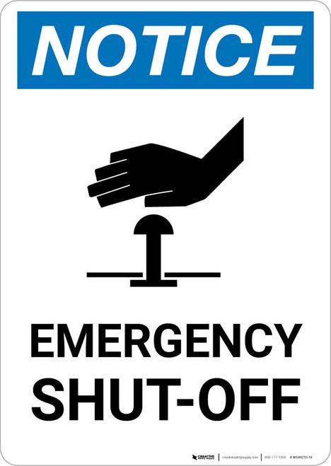 Notice: Emergency Shut-off with Icon Portrait