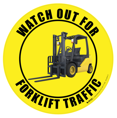Watch Out for Forklift Traffic - Floor Sign