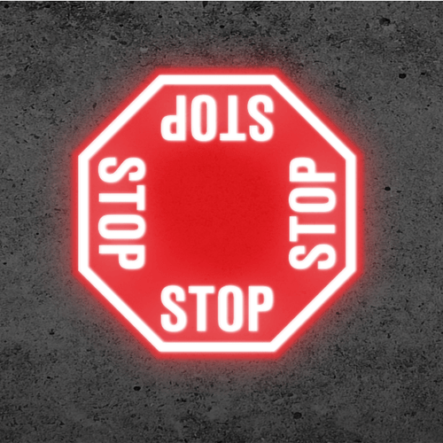 SignCast S300 Virtual Sign - 4 Way Stop Sign
