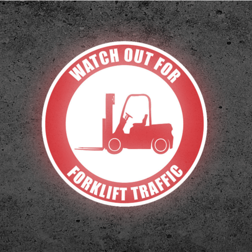 SignCast S300 Virtual Sign - Watch Out for Forklift Traffic