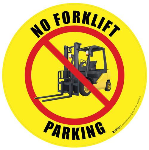 No Forklift Parking (Yellow) Floor Sign