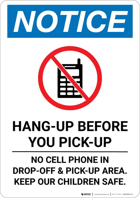 Notice: Hang-Up Before You Pick-up Portrait