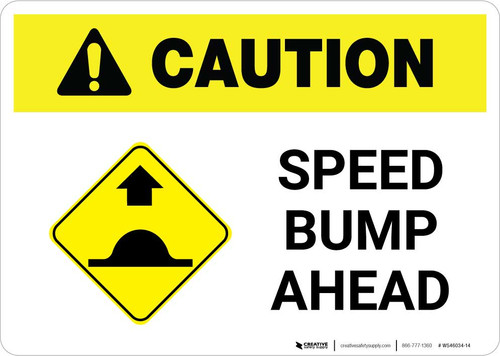 Caution: Speed Bump Ahead with Icon Landscape