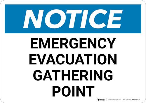 Notice: Emergency Evacuation Gathering Point Landscape