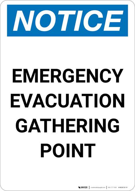 Notice: Emergency Evacuation Gathering Point Portrait