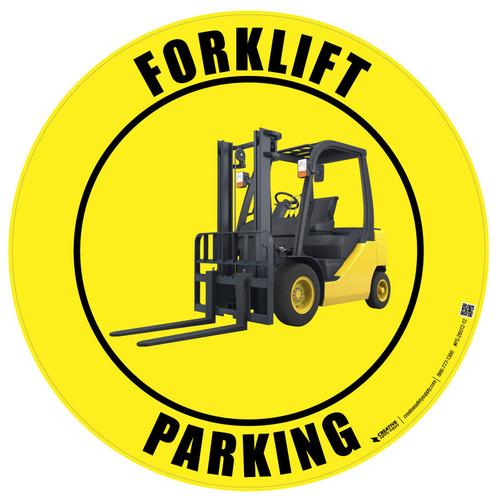 Forklift Parking - full-color vinyl floor sign