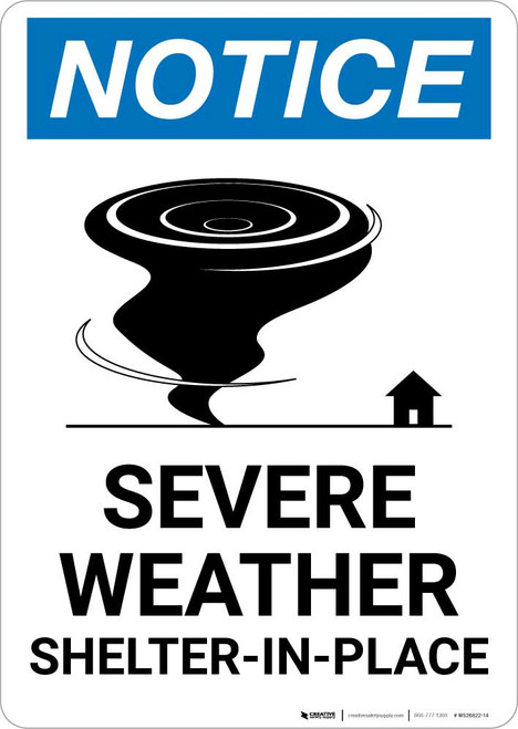 Notice: Severe Weather Shelter-In-Place Portrait