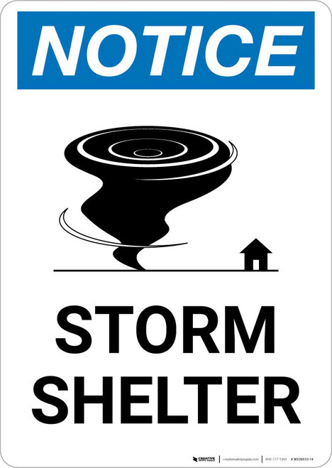 Notice: Storm Shelter with Icon Portrait