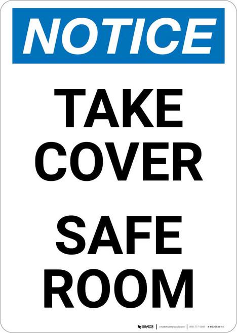 Notice: Take Cover Severe Weather Portrait