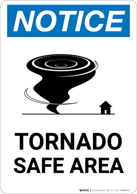 Notice: Tornado Shelter Down Arrow with Icon Portrait