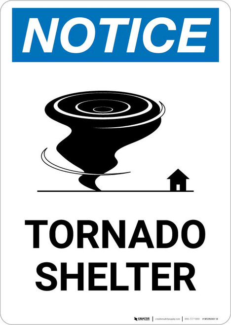Notice: Tornado Shelter Portrait
