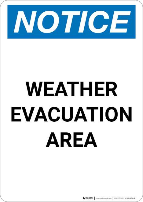 Notice: Weather Evacuation Area Portrait