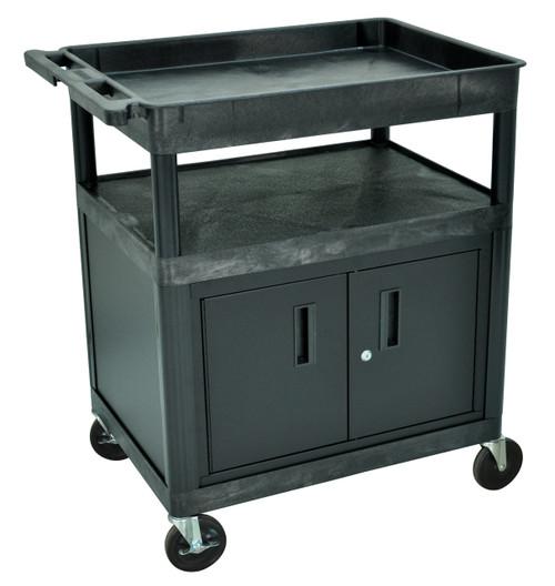 Luxor Black 3 shelf (Tub, Flat, Flat) w/CABINET