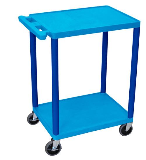 Luxor 2 Shelf Utility Cart Blue