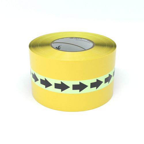 SafetyTac® Glowstripe: Arrows Repeating - Inline Printed Floor Marking Tape
