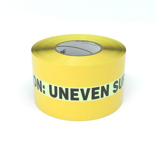 SafetyTac® Glowstripe: Caution: Uneven Surface - Inline Printed Floor Marking Tape