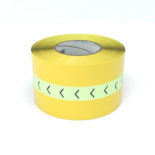 SafetyTac® Glowstripe: Chevron Arrow Pattern - Inline Printed Floor Marking Tape