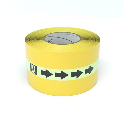 SafetyTac® Glowstripe: Egress Symbol With Arrow - Inline Printed Floor Marking Tape