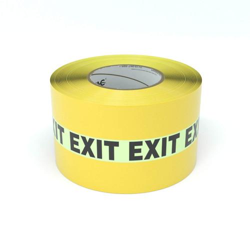 SafetyTac® Glowstripe: Exit - Inline Printed Floor Marking Tape