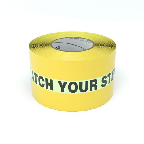 SafetyTac® Glowstripe: Watch Your Step - Inline Printed Floor Marking Tape