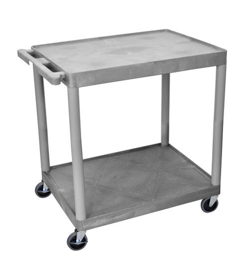 Luxor 2 Shelf Utility Cart Gray
