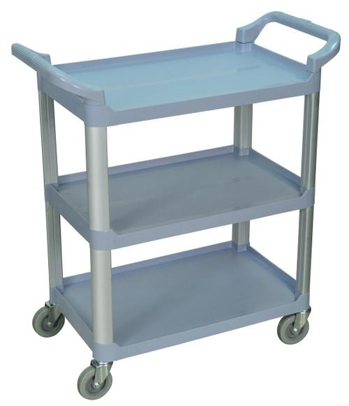 Luxor 3 Shelf Gray Serving Cart