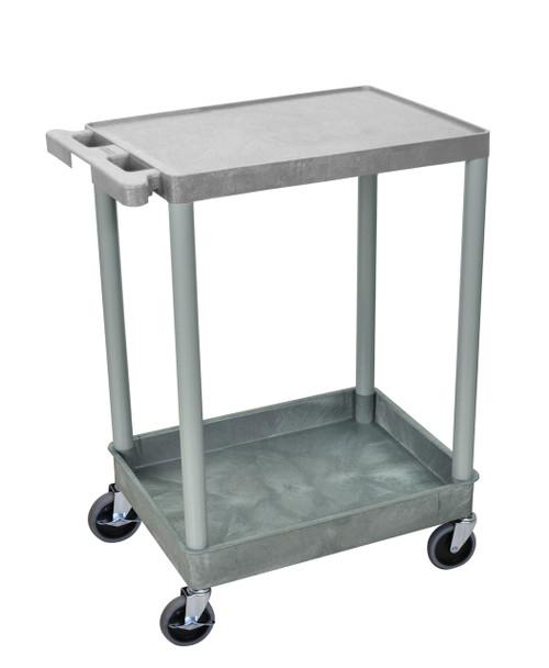 Luxor 2 Shelf Gray Tub Cart