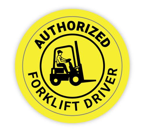 Authorized Forklift Driver - Hard Hat Sticker