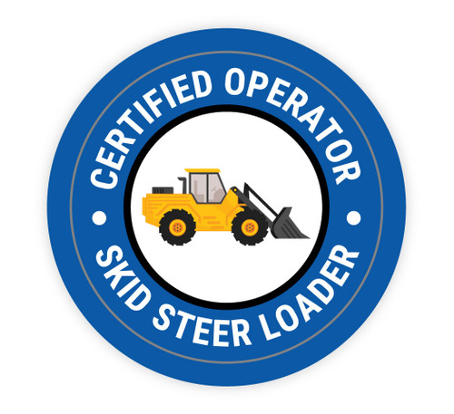 Certified Operator Skit Steer Loader - Hard Hat Sticker