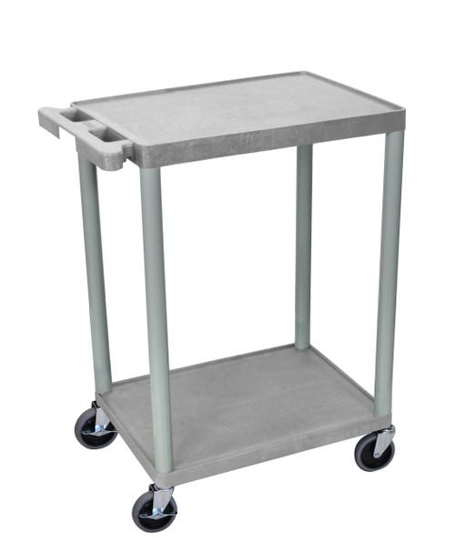 Luxor 2 Shelf Gray Cart