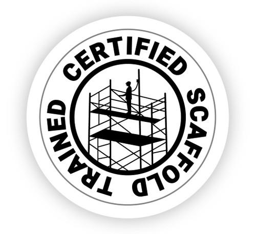 Certified Scaffold Trained - Hard Hat Sticker