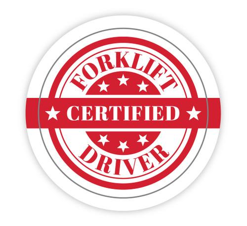 Forklift Certified Driver - Hard Hat Sticker