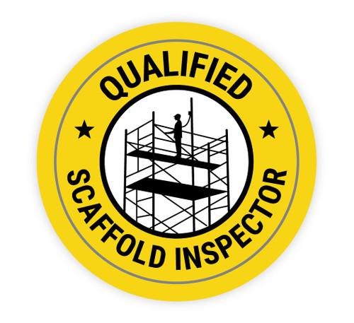 Qualified Scaffold Inspector - Hard Hat Sticker