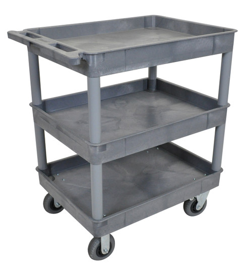 Luxor Gray 24x32 3 Tub Cart W/ SP6 Casters