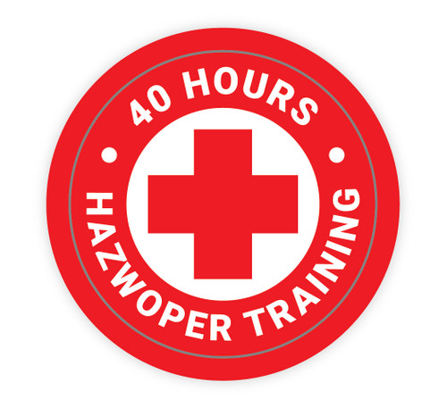 40 Hours Hazwoper Training - Hard Hat Sticker