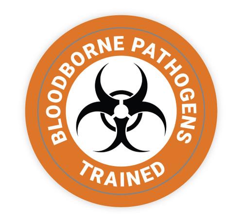Bloodborne Pathogens Trained - Hard Hat Sticker