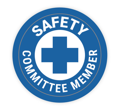 Safety Committee Member - Hard Hat Sticker
