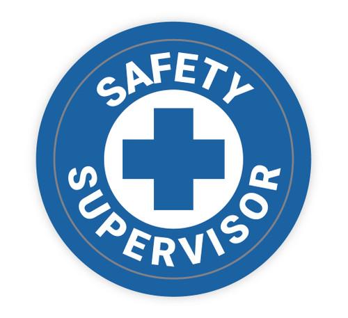 Safety Supervisor - Hard Hat Sticker
