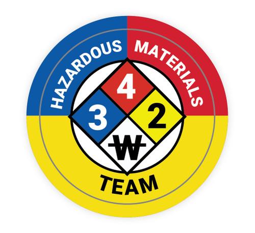 Hazardous Materials Team with NFPA Symbol - Hard Hat Sticker