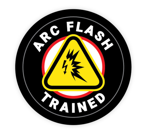 Arc Flash Trained - Hard Hat Sticker